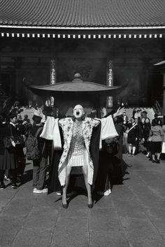 "Guinevere van Seenus in ""La Geisha"" by Sofia Sanchez & Mauro Mongiello for Numéro n.172 April 2016"