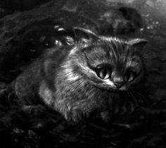 alice in wonderland black and white gif