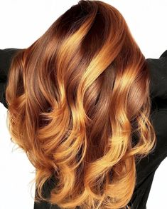 Looking for the best trendy styles for your red hair or thinking of switching to red shade? Here you will find loads of different red hair color ideas. Ruby Red Hair, Red Blonde Hair, Red Ombre Hair, Dyed Red Hair, Long Red Hair, Neon Hair, Hair Color Balayage, Dye Hair, Light Auburn Hair