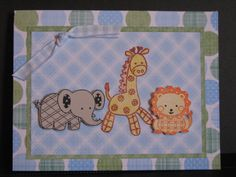 Baby Shower Card - Animals