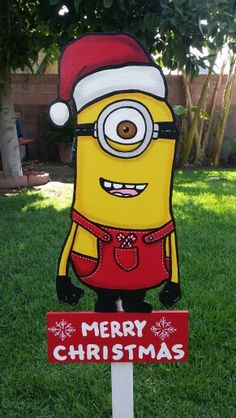Christmas minions christmas yard art holidays decorations outdoors
