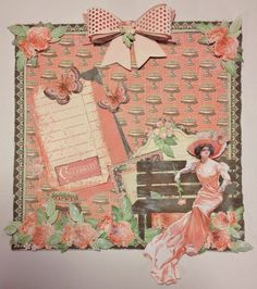 Graphic 45 Time to Celebrate magnetic memo board / lo By Anne Rostad