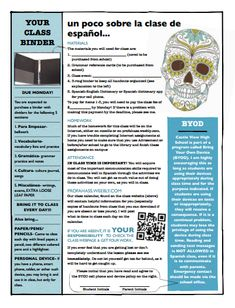22 best savory syllabi images on pinterest syllabus examples spanish visual syllabus fandeluxe Image collections