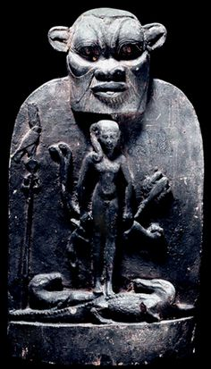 Ägyptisches Totenbuch — Painted wooden cippus of Horus standing on. Ancient Aliens, Ancient Egypt, Ancient History, Art History, African Origins, African History, Black History Timeline, Potnia Theron, Kemet Egypt