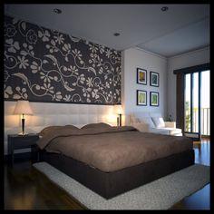 camera letto parete pietra - Google Search