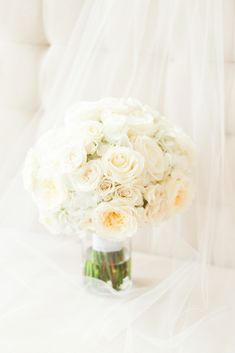 Trump National Wedding in Washington DC by Katelyn James Photography with white and ivory bouquet