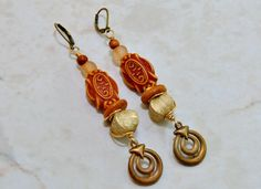 Nubian Earrings African Brass Earrings Tribal by ZenCustomJewelry, $21.00