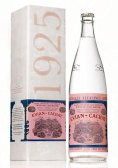 reissue of Evian bottle