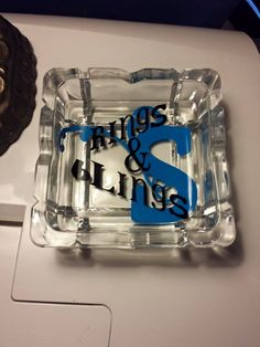A jewelry dish for sale at www.facebook.com/southrnxpressions Customize and personalize. Any 2 colors of vinyl, font, and initial.