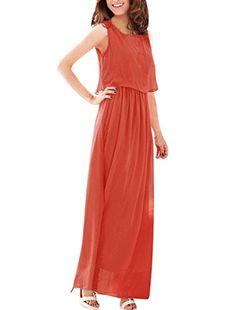 Allegra K Women Chiffon Overlay Dress Elastic Waist Summer Party Maxi Dresses Allegra K http://www.amazon.com/dp/B00DV0MZAY/ref=cm_sw_r_pi_dp_wDpRwb1BHYFDC