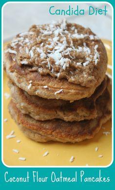MamaEatsClean: Sugar Free, Gluten Free Coconut Flour Oatmeal Pancakes - Candida Diet friendly