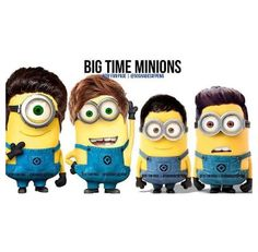 Big Time Rush as minions. Poor Carlos...he is so tiny...and then we have Logan doing his own thanggggg
