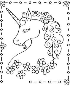 4 Images Of Free Printable Unicorn Coloring Pages