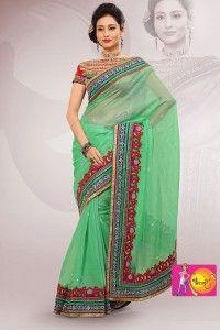 Fabulous Green color Designer Party Wear