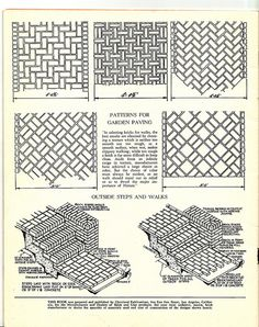 I Have A Weakness For Diagrams Of Things I Would Never Dream Of Doing Or  Building. Paver PatternsMystic ...