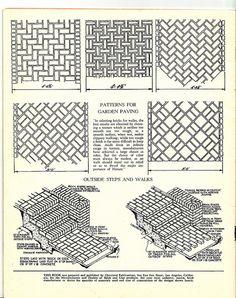 Brick Paver Patterns by Calsidyrose, via Flickr