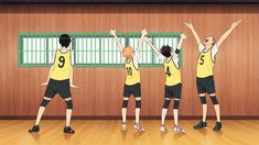 Kageyama Doesn't Know How to Function | Hinata, Nishinoya & Tanaka | Meat! | Haikyuu!! | #anime | (gif)