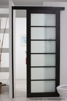 Interior Sliding Glass Doors primed 4 panel shaker glazed | internal stile & rail doors | doors