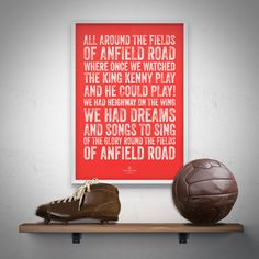 Liverpool 'Fields Of Anfield' Football Song Print