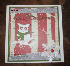 Wild About Scrap Design Team: My Mind's Eye - Sleigh Bells Ring - Branches Christmas Card