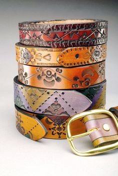 Hand Tooled Leather Belts by LilypistolLeather on Etsy, $65.00