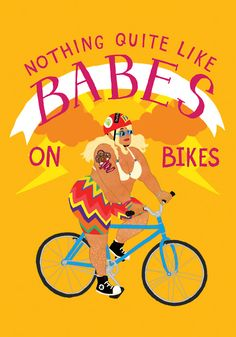 BABES ON BIKES!! Poster by Aimee!