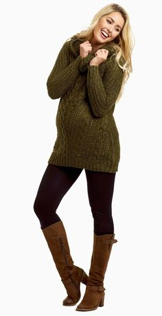 Make sure to stock up on this amazing winter essential, good thing it comes in multiple colors! This cowl neck knit maternity sweater is one of our favorite trends this season and is perfect to keep you warm during the cold weather. Simply style this maternity sweater with maternity leggings and boots for a gorgeous ensemble.