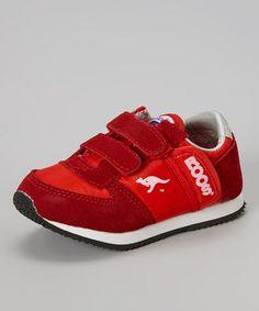 Look what I found on #zulily! Red Combat Sneaker - Kids #zulilyfinds