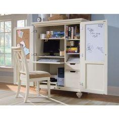 Camden White Home Office Cabinet | Desk Cabinet | American Drew 920-944