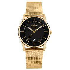Polished Watch Gold Black//
