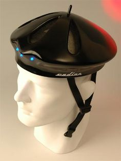 Show your French Pride with a beret helmet. Unfortunately it;s just a prototype.
