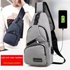 Male Shoulder Bags USB Charging Crossbody Bags Men Anti Theft Chest Bag School Summer Short Trip Messengers Bag 2019 New Arrival Shoulder Backpack, Crossbody Shoulder Bag, Shoulder Handbags, Shoulder Bags, Shoulder Sling, Usb, Mode Punk Rock, Crossbody Bags For Travel, Travel Bags
