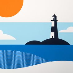 The Lost Fox › Lighthouse A2 Screen Print (Hand-pulled limited edition)