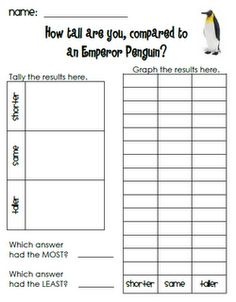 For winter penguins and polar bears unit