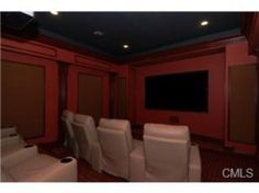 Dark lighting for this movie room