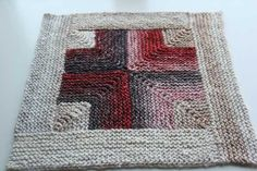 Mitered Crossed Blanket by Kay Gardiner. Proceeds from sale go to disaster relief in Japan.