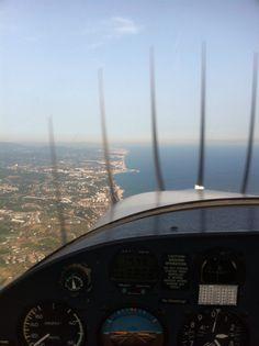 Aerolink training flight pilot in command over Blanes :)