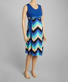 Look at this #zulilyfind! Royal & Mint Mistry Maternity Sleeveless Dress #zulilyfinds