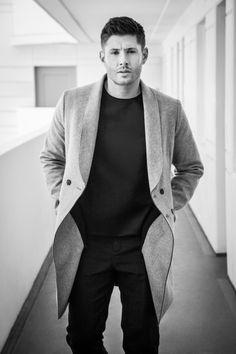 "Jensen b&w SO DAMN HOT!! #JensenAckles #Supernatural. Unpublished Harper's Bazaar China Jensen photoshoots. If you want to repost, ""please credit Jensen China fanclub (http://weibo.com/jensen001)."""