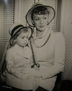 Eve Arden & her daughter.....Uploaded By www.1stand2ndtimearound.etsy.com