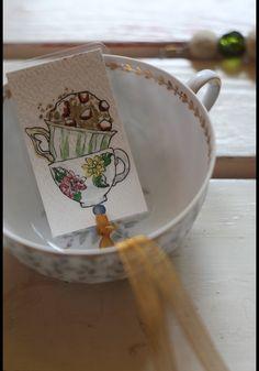 Paper & Card – Five o'clock - Handmade bookmark – a unique product by virydi_art on DaWanda
