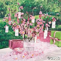 Cherry Blossom Wishing Tree Centerpiece Party Blossoms