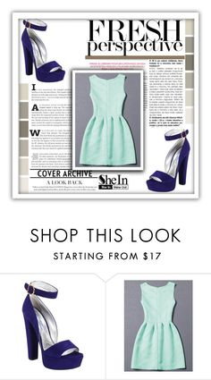 """Shein Dress"" by mikica-kiki ❤ liked on Polyvore featuring Prada"