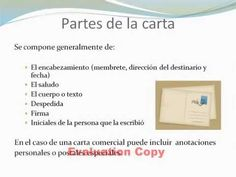 La carta y sus partes - YouTube