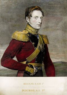 Antique 1826 hand-colored engraving of Nicolas, 1st Emperor of Russia. Printed by George Dawe and engraved by John Henry Robinson. Unframed, small edge paper loss, some age toning at edges. 10.0ʺW × 1