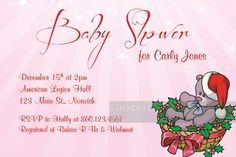 christmas themed baby shower invitations | Custom Christmas theme baby shower invitation I Create You Print ...