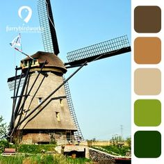 Colour palette inspired by countries - Holland - furrybirdworks.com