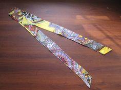 Yellow Silk TwillySilk Handbag TieSilk Scarf100% by SummerMatcha