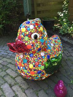colorful mosaic rubber duck by ColoreMosaics on Etsy