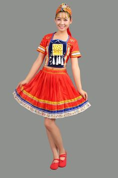 7eaa6722c 2016 New Miao Clothing Performance Costumes Chinese Folk Dance Costume for Women  Hmong Clothes With Headress